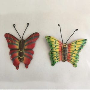 tow Colorful Butterfly metal art